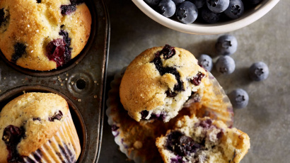 Heavenly lemon and blueberry muffins