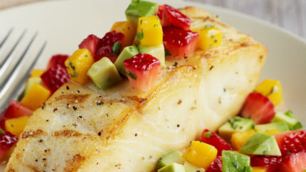 Halibut recipe with strawberries